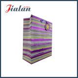 Qualitäts-bunter heißer stempelnder Papierbeutel mit Knoten-Griff