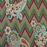 Tela impressa confortável do Spandex do algodão do estilo novo