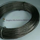 Alambre trenzado del volframio, alambre trenzado negro del volframio, alambre de tungsteno Twisted