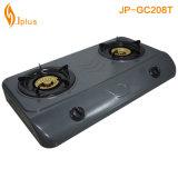 Fornello di gas dorato del bruciatore dell'alveare di Buner del rivestimento grigio 2 (JP-GC208T)