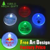Étiquette nommée ronde de poste promotionnel de cadeau, insigne Tissus de Pin en métal