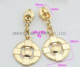 Form-Metallrundes Reißverschluss-Abzieher-Plättchen-Kleid-Zubehör-Befestigungsteil-Gold