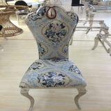 꽃 패턴 직물 아름다운 식당 의자