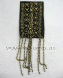 Distintivo degli accessori della catena del metallo della zona di spalla di Applique del branello dell'annata di modo