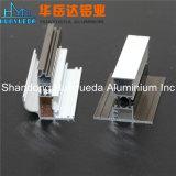 Profil en aluminium enduit de poudre pour le double guichet de tissu pour rideaux de guichet de glissement
