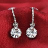 Захватывающий крюк вагонной стяжки Earrig кольца уха корейского типа ювелирных изделий отливки белого металла глянцеватый малый кристаллический