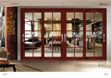 Schuifdeur van het Aluminium van de Korrel van het Paleis van het oosten de Houten met het Ontwerp van de Grill