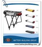 bateria elétrica de Ebike da bateria da bateria LiFePO4 da potência de bateria do Lítio-Íon da bateria da cremalheira da parte traseira da bateria da bicicleta da bateria de lítio do bloco da bateria de lítio de 36V 10s5p 10s6p