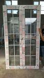 Portello di alluminio di profilo delle lastre di vetro esterne aperte standard superiori del doppio della Cina con le griglie
