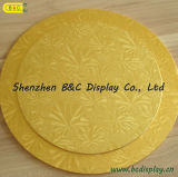 Kuchen Drums Gold und Silver Heart Shaped Cake Board mit SGS (&C-K009)