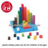 立方体をリンクする教育おもちゃは子供のためのDIYのおもちゃをカスタマイズした