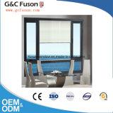 Het nieuwe Verglaasde Dubbel van het Glas van het Frame van de Vensters van het Huis van het Aluminium van het Ontwerp Fabriek Berijpte