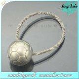 Coupe du Monde de Football de métal de promotion de la forme de cadeau de trousseau