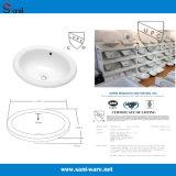 De ovale Sanitaire Gootsteen van de Badkamers van Waren met Certificatie Cupc (SN041)