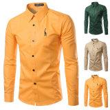 Chemises de robe 100%Polyester élégantes des hommes chauds (A430)