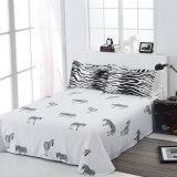 白黒シマウマは綿の寝具セットを印刷した