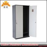 [جس-024] يرقّق حاجة مستخدم خزانة تخزين خزانة فولاذ معدن خزانة ثوب خزانة 2 باب