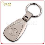 高品質の鋼鉄によってブラシをかけられる終わりのエポキシの革Keychain
