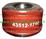 Hino/remorque/chariot/Bus 43512-1710 pièces de rechange du tambour de frein