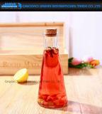 contenitore di memoria di vetro della bevanda di figura di cono 350ml con sughero