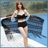 Изготовленный на заказ черная часть Бикини Swimsuit 3 шнурка