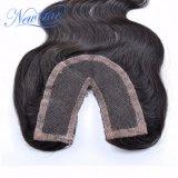 Chiusura brasiliana del merletto della parte dei capelli umani U della nuova della stella onda del corpo
