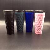 2018 nuova tazza di caffè doppia larga riutilizzabile di vuoto dell'acciaio inossidabile della bocca 16oz