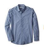 Het lange Katoenen van Kokers Toevallige Overhemd van de Plaid voor Mensen