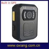 Gebouwd in GPS IRL de Visie van de Nacht 140 de Graad Brede Versleten Camera van de Hoek IP65 1080P Lichaam voor Politie