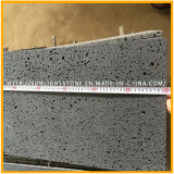 Basalto grigio/nero scuro smerigliatrice con i fori per le mattonelle di pavimentazione, mattonelle del basalto