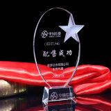 Concessões do vidro do troféu da estrela do cristal cinco
