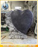 De blauwe Grafsteen van het Graniet van de Parel Hart Gevormde