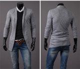 4개의 색깔 남자의 모직에 의하여 뜨개질을 하는 카디건 스웨터 긴 소매
