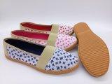 Pattini causali delle calzature della scarpa da tennis di vendita della buona di prezzi dell'iniezione delle donne di tela di canapa iniezione calda dei pattini (HP181019)