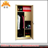 Double Door Steel Bedroom Furniture Metal loosely Style Wardrobes