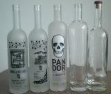 Botella de cristal clara estupenda de la vodka/botellas de cristal de la vodka