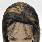 Neues Form 2016 Malaysina Menschenhaar-volle Spitze-Perücke-Mischungs-Farbe gerade mit dem Baby-Haar