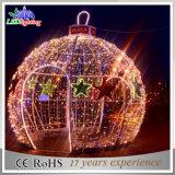 A luz de Natal ao ar livre a mais nova do motivo da esfera da paisagem do diodo emissor de luz da decoração