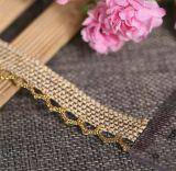 Merletto dorato del Crochet del cotone di seta di alta qualità 2018