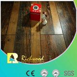 Pavimento Laminado De Noz V-Grooved De Mão 12.3mm