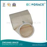 Tela no tejida acrílico bolsa de filtro de filtro de polvo de fieltro de la aguja