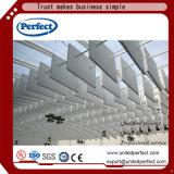 Panneau de plafond acoustique bordé tégulaire blanc de fibre de verre de vente chaude 600*1200