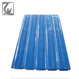 PPGI Prepainted a folha ondulada galvanizada da telhadura