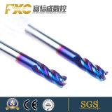 Fxc HRC60 4のフルートは半径の端の製粉カッターに角を付ける
