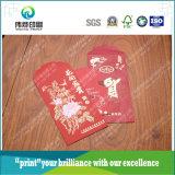 Il regalo promozionale di stampa avvolge le caselle rosse dei soldi/sacchi rossi del regalo