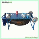 Dobragem de Rolagem multifunções carrinhos de mesa de café a tabela de praia de Metal
