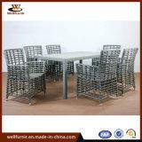 Экспорт Китая высокого качества на заводе для использования вне помещений алюминиевых обеденный стул (WF050044)