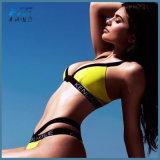 Form-gelber reizvoller Dreieck-Bikini-BadebekleidungBeachwear