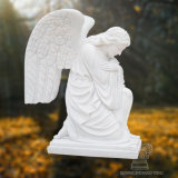 Statua di marmo bianca dell'angelo