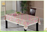 Pvc In reliëf gemaakt Tafelkleed met Waterdichte de Steun van het Flanel/Oilproof (TJG007)